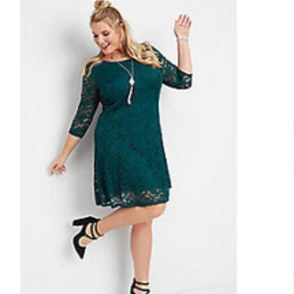 Maurices Plus size lace dress w/ strappy back 1X